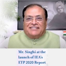 Mr. Mahendra Singhi At The Launch of Energy Technology Perspectives (ETP) 2020