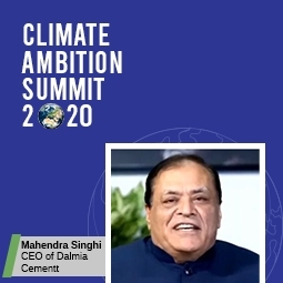 Mr Singhi at UN Climate Ambition Summit 2020