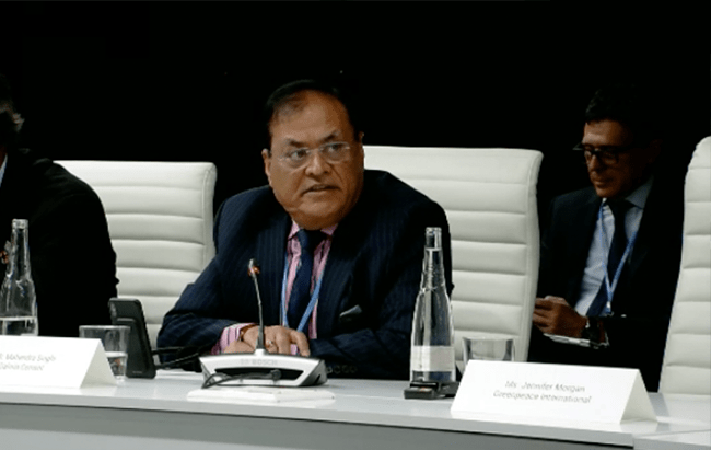 Dalmia Cement (Bharat) Ltd. CEO Mr. Mahendra Singhi at the Global Climate Action- UN Climate Change- COP25 Madrid
